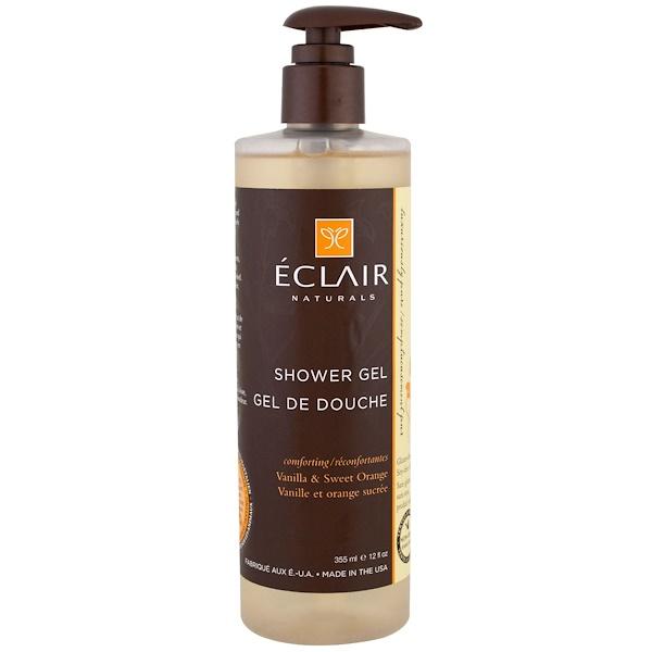 Eclair Naturals, 沐浴露,香草和甜橙,12液量盎司(355毫升)