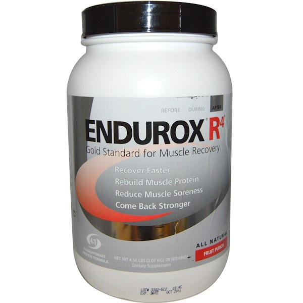 Pacific Health Inc., Endurox R4, Muscle Recovery Drink, Fruit Punch, 4.56 lbs (2.07 kg) (Discontinued Item)