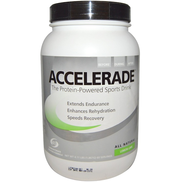 Pacific Health Inc., Accelerade Sports Drink, Lemon Lime, 4.11 lbs (1,867 g) (Discontinued Item)