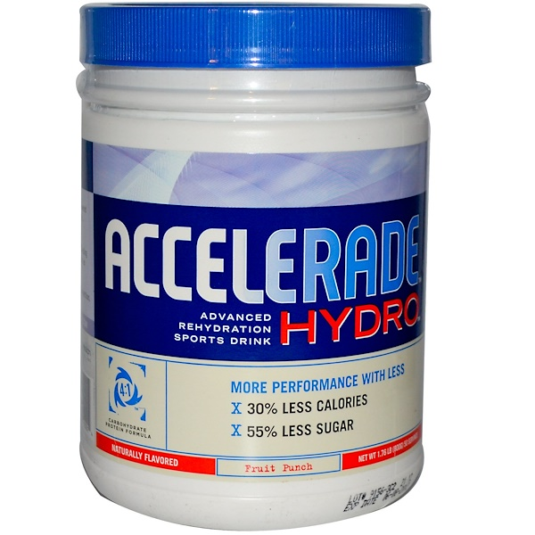 Pacific Health Inc., Accelerade Hydro, Advanced Rehydration Sports Drink, Fruit Punch, 1.76 lbs (800 g) (Discontinued Item)