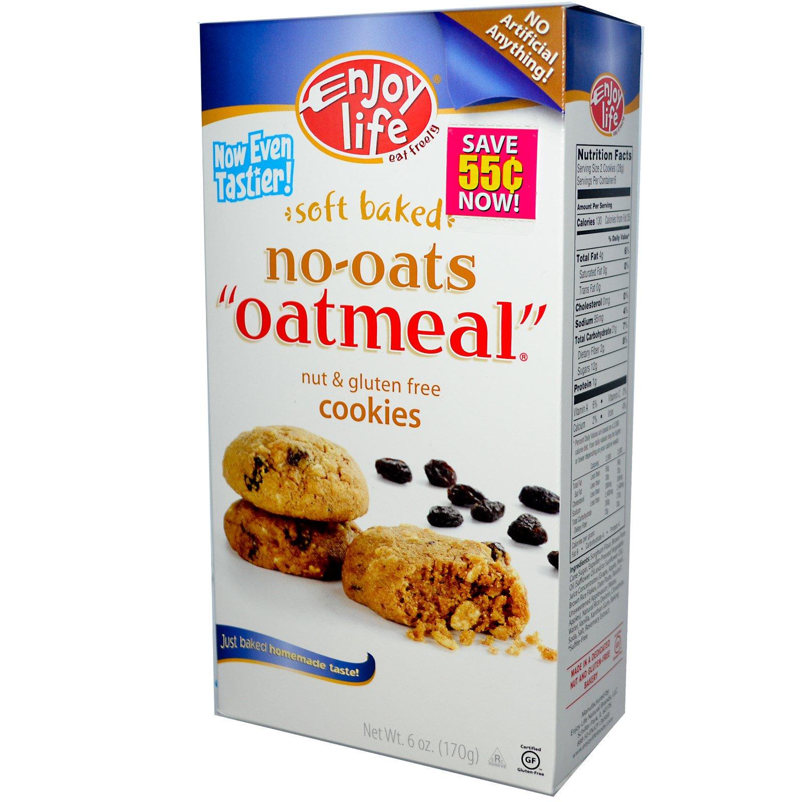"Enjoy Life Foods, Soft Baked, No-Oats, ""Oatmeal"" Cookies ..."