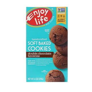 Enjoy Life Foods, ソフトベイクドクッキー、ダブルチョコレートブラウニー、6オンス (170 g)