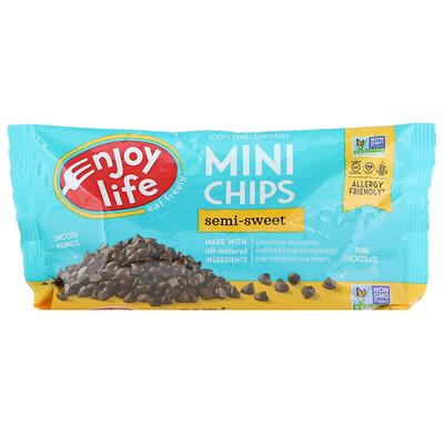Купить Enjoy Life Foods Мини-капли, полугорький шоколад, 283 г