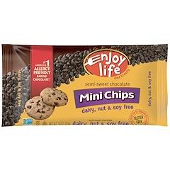 Enjoy Life Foods, Mini Chips, Semi-Sweet Chocolate, 10 oz (283 g)
