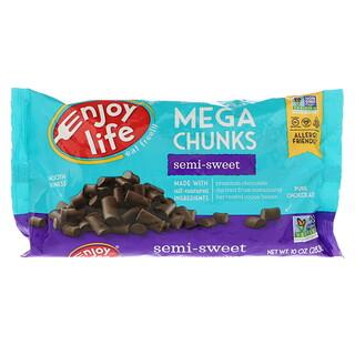 Enjoy Life Foods, メガチャンクス, セミスイートチョコレート, 10 oz (283 g)