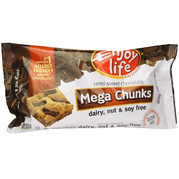 Enjoy Life Foods, Mega Chunks, Semi-Sweet Chocolate, 10 oz (283 g)