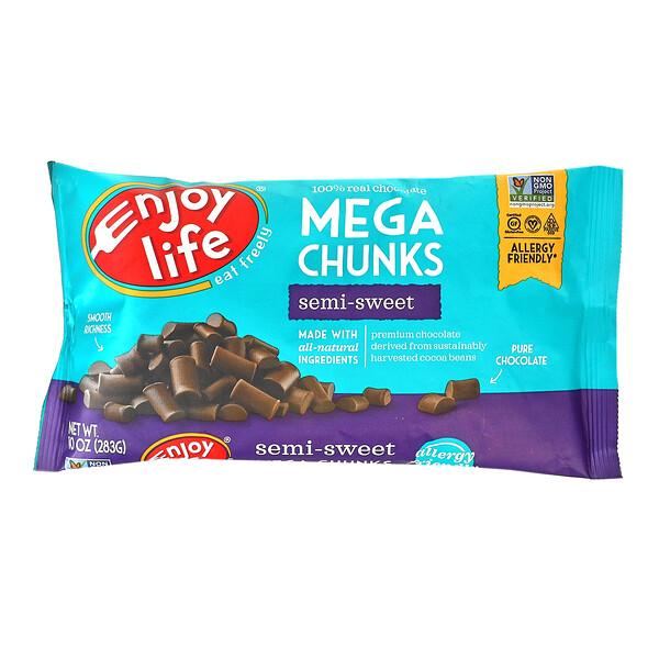 Mega Chunks Chocolate, Semi-Sweet, 10 oz (283 g)