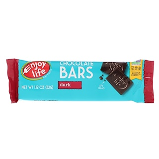 Enjoy Life Foods, Chocolate Bars, Dark, 1.12 oz (32 g)