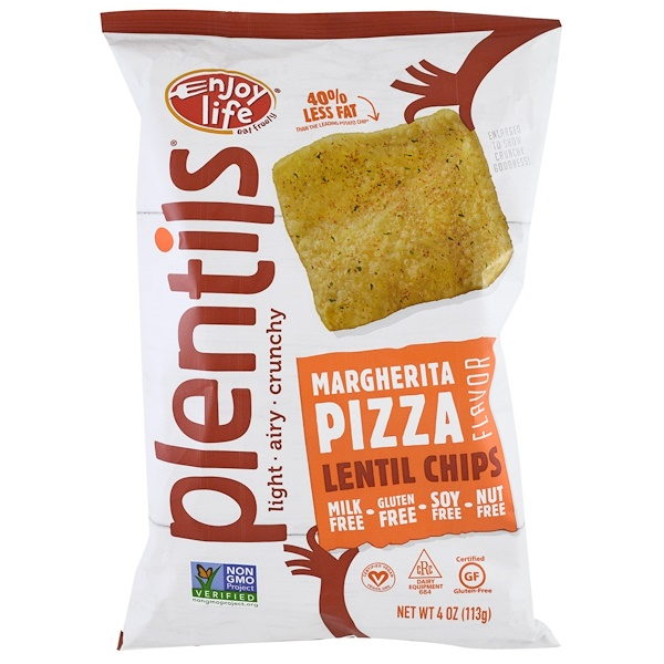 Enjoy Life Foods, Plentils, Lentil Chips, Margherita Pizza Flavor, 4 oz (113 g)