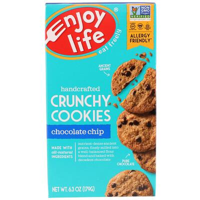 Купить Enjoy Life Foods Хрустящее печенье ручной работы с кусочками шоколада, 6, 3 унции (179 г)