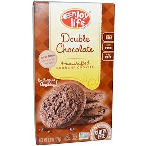 Enjoy Life Foods, Хрустящее печенье ручной работы, двойной шоколад, 6,3 унции (179 г)