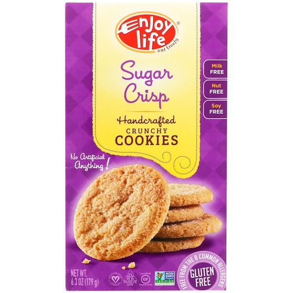 Enjoy Life Foods, Handcrafted Crunchy Cookies, Sugar Crisp, 6.3 oz (179 g)