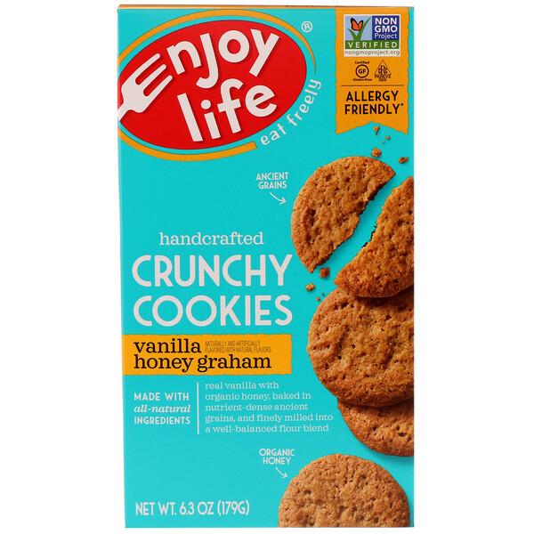 Enjoy Life Foods, Handcrafted Crunchy Cookies, Vanilla Honey Graham, 6.3 oz (179 g)