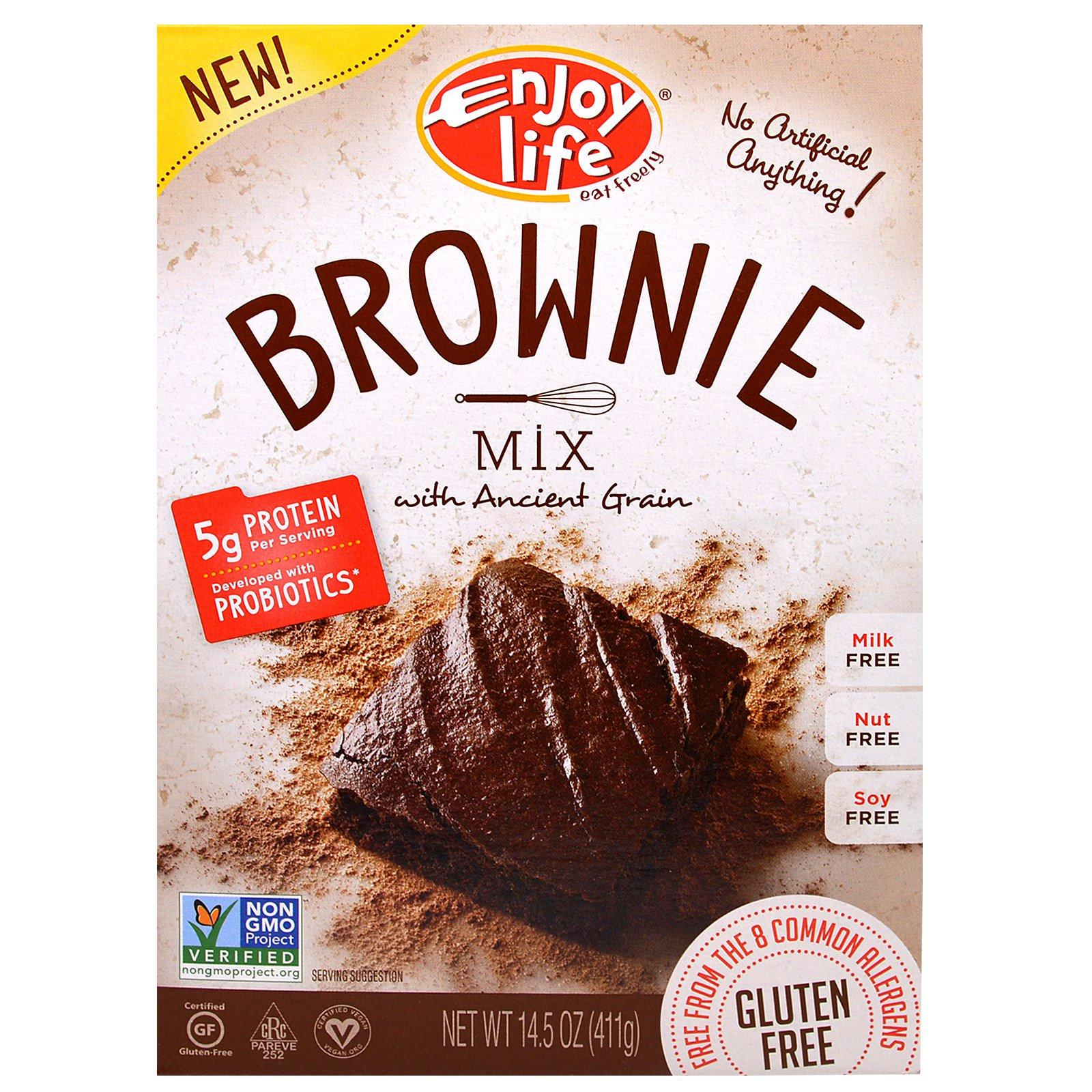 Enjoy Life Foods, Смесь Шоколадных пирожных Brownie, 14,5 унций (411 г)
