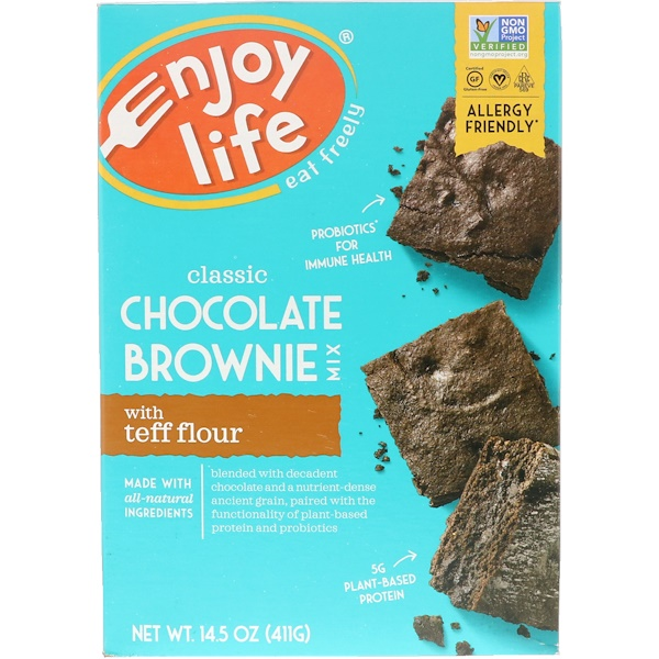 Enjoy Life Foods, Classic Chocolate Brownie Mix with Teff Flour, 14、5 oz (411 g)