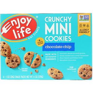 Энджой Лайф фудс, Crunchy Mini Cookies, Chocolate Chip, 6 Snack Packs, 1 oz (28 g) Each отзывы