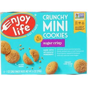 Энджой Лайф фудс, Crunchy Mini Cookies, Sugar Crips, 6 Packs, 1 oz (28 g) Each отзывы