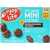 Enjoy Life Foods, Soft Baked Mini Cookies, Double Chocolate Brownie, 6 Snack Packs, 1 oz (28 g) Each