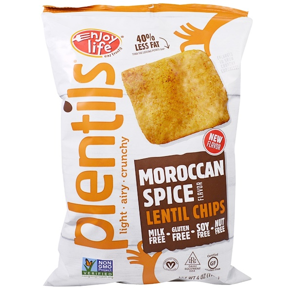 Enjoy Life Foods, Plentils, Lentil Chips, Moroccan Spice Flavor, 4 oz (113 g) (Discontinued Item)