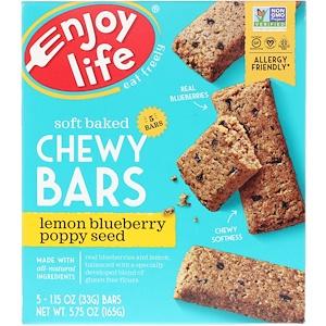 Энджой Лайф фудс, Soft Baked Chewy Bars, Lemon Blueberry Poppy Seed, 5 Bars, 1.15 oz (33 g) Each отзывы