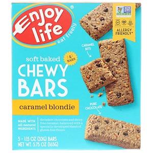 Энджой Лайф фудс, Baked Chewy Bars, Caramel Blondie, 5 Bars, 1.15 oz (33 g) Each отзывы