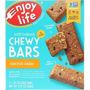 Энджой Лайф фудс, Soft Baked Chewy Bars, Carrot Cake, 5 Bars, 1.15 oz (33 g) Each отзывы
