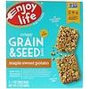 Enjoy Life Foods, クリスピー穀物 & シードバー、メープルスイートポテト、5本、各1オンス (28 g)