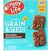 Enjoy Life Foods, Barras crocantes de grano y semillas, malvavisco de chocolate, 5 barras, 1 oz (28 g) c/u