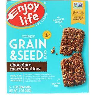Enjoy Life Foods, クリスピー穀物・種子バー、チョコレートマシュマロ、5本、各1 oz (28 g)