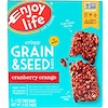 Enjoy Life Foods, Crispy Grain & Seed Bars, Cranberry Orange, 5 Bars, 1 oz (28 g) Each