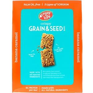 Энджой Лайф фудс, Crispy Grain & Seed Bars, Banana Caramel, 12 Bars, 1.76 oz (50 g) Each отзывы
