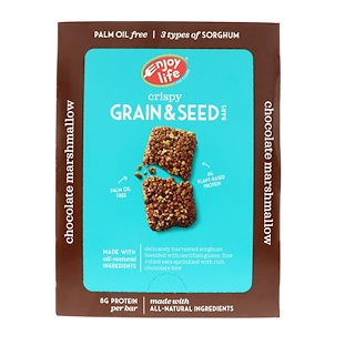 Enjoy Life Foods, クリスピー穀物・種子バー、チョコレートマシュマロ、12本、各1.76 oz (50 g)