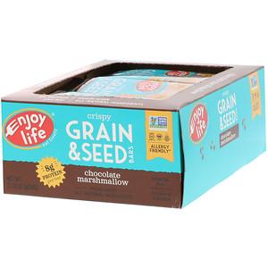 Энджой Лайф фудс, Crispy Grain & Seed Bars, Chocolate Marshmallow, 12 Bars, 1.76 oz (50 g) Each отзывы