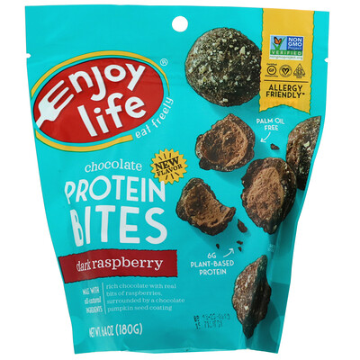 Купить Enjoy Life Foods Шоколадные протеиновые снеки, черная малина, 180 г (6, 4 унции)