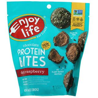 Enjoy Life Foods, Шоколадные протеиновые снеки, черная малина, 180 г (6,4 унции)