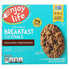 Enjoy Life Foods, Soft-Baked Breakfast Fruit & Oat Ovals, Chocolate Chip Banana, 5 Bars, 1.76 oz (50 g) Each