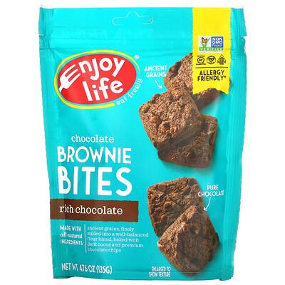 Enjoy Life Foods Chocolate Brownie Bites, Rich Chocolate, 4.76 oz (135 g)