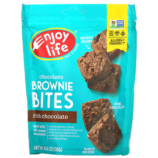 Enjoy Life Foods, Chocolate Brownie Bites, Rich Chocolate, 4.76 oz (135 g)
