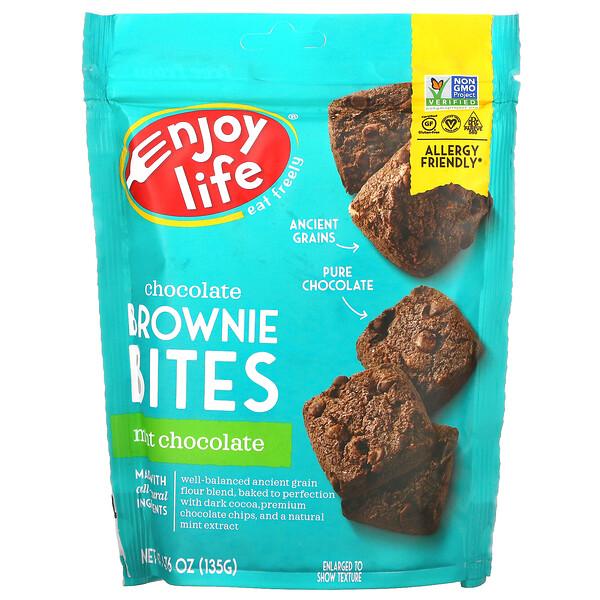 Chocolate Brownie Bites, Mint Chocolate, 4.76 oz (135 g)