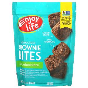 Enjoy Life Foods, Chocolate Brownie Bites, Mint Chocolate, 4.76 oz (135 g)