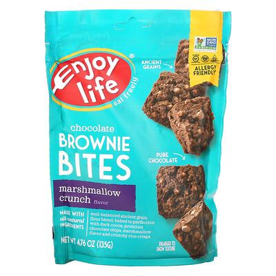 Enjoy Life Foods Chocolate Brownie Bites, Marshmallow Crunch , 4.76 oz (135 g)