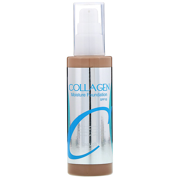 Colágeno, Base de maquillaje humectante, FPS 15, n.º 23, 100 ml (3,38 oz. líq.)