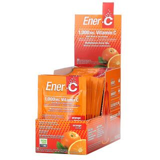 Ener-C, витаминC, смесь для приготовления мультивитаминного напитка со вкусом апельсина, 1000мг, 30пакетиков, по 0,3г (8,67унций) в каждом