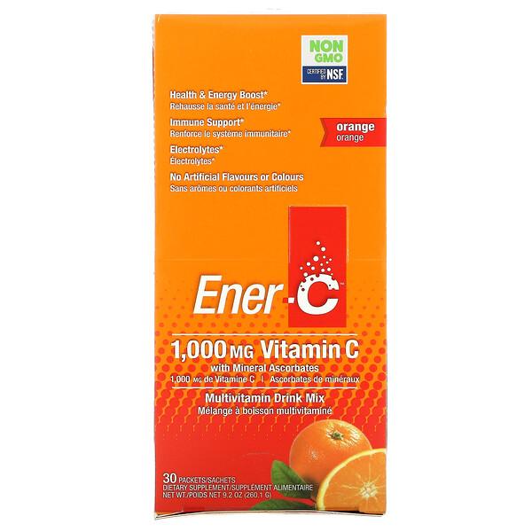 ビタミンC、マルチビタミンドリンクミックス、オレンジ、30包、9.2オンス( 260.1g )