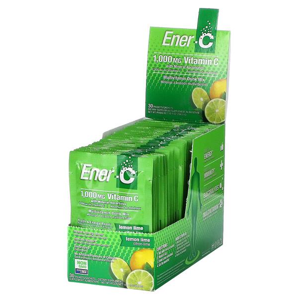 Vitamin C, Multivitamin Drink Mix, Lemon Lime, 1,000 mg, 30 Packets, 0.3 oz (9.56 g) Each