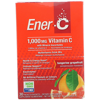 Ener-C, Vitamin C, Effervescent Powdered Drink Mix,Tangerine Grapefruit, 30 Packets, 10.0 oz (283.5 g)