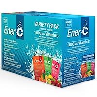 Витамин C, шипучий растворимый порошок для напитка, ассорти, 30 пакетиков, 9,9 унции (282,5 г) - фото