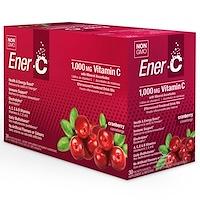 Витамин C, шипучий растворимый порошок для напитка со вкусом клюквы, 30 пакетиков, 10,0 унций (282,3 г) - фото