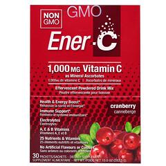 Ener-C, 비타민 C, 발포 파우더 드링크 믹스, 크랜베리, 30 패킷, 10.0 온스 (282.3 g)
