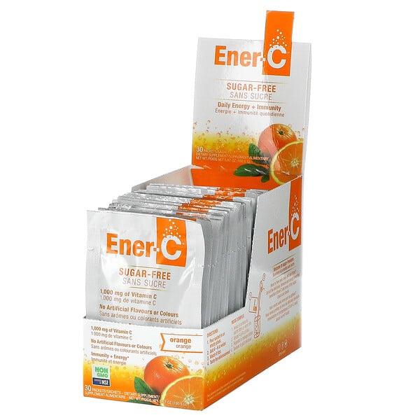 витаминC, смесь для приготовления мультивитаминного напитка со вкусом апельсина, без сахара, 1000мг, 30пакетиков, 5,35г (0,2унций) в каждом